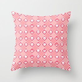 The Nik-Nak Bros. Peachie Throw Pillow