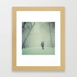 Snow in Vondelpark Framed Art Print