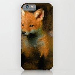 Little Baby Fox iPhone Case