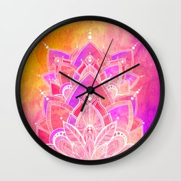 Complete Zen - Pink and Purple Wall Clock