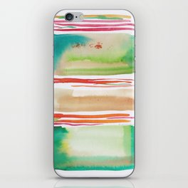 5   |181026 Lines & Color Block | Watercolor Abstract | Modern Watercolor Art iPhone Skin