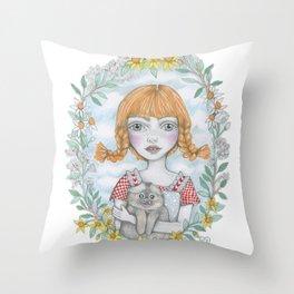 pippi long stocking Throw Pillow