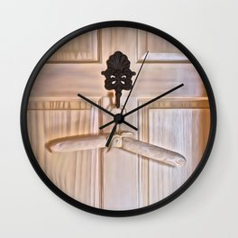 Bathroom Door D Wall Clock