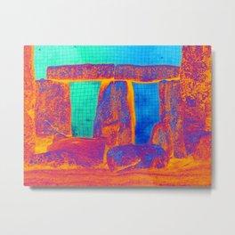 Stonehenge Meets Pop Art Metal Print