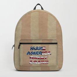 USA Flag MAKE AMERICA GREAT AGAIN typography Backpack