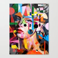 SHE LOVES COLORS Canvas Print