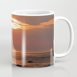 Sunset Seascape with Ship Coffee Mug