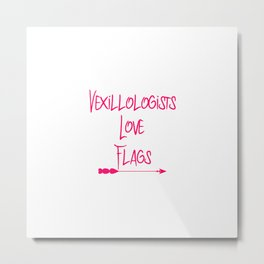 Vexillologists Love Flags Quote Metal Print