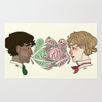 enjolras Area & Throw Rugs featuring Name on my tongue by Antisepticbandaid