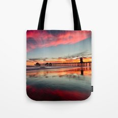 Huntington Beach Sunsets  8/5/15  Tote Bag