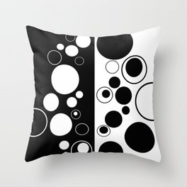 Reflections - Black and white geometric artwork Throw Pillow