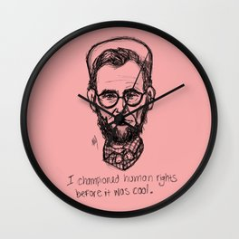 American Hipstory: Abe Lincoln Wall Clock