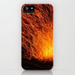 Golden Firework iPhone Case