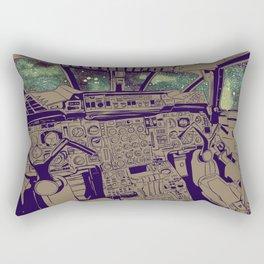 SpaceJet (Color) Rectangular Pillow