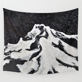 Mount Hood and Stars Wall Tapestry