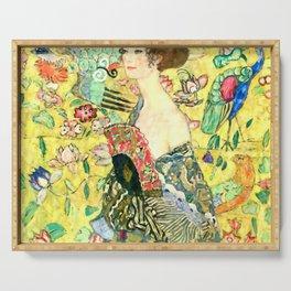 """Gustav Klimt """"Lady with fan"""" Serving Tray"""