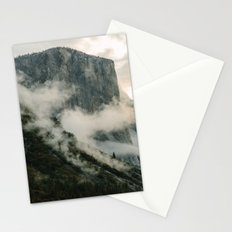 Yosemite fog Stationery Cards