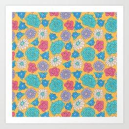 RocoFloral (mango) Art Print