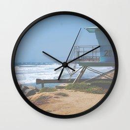 Lifeguard tower on the California Coast Highway Wall Clock