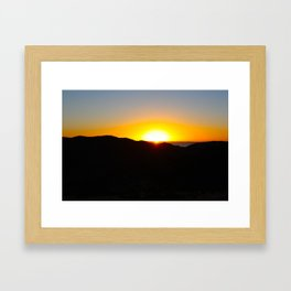 Isla Del Sol Sunset Framed Art Print