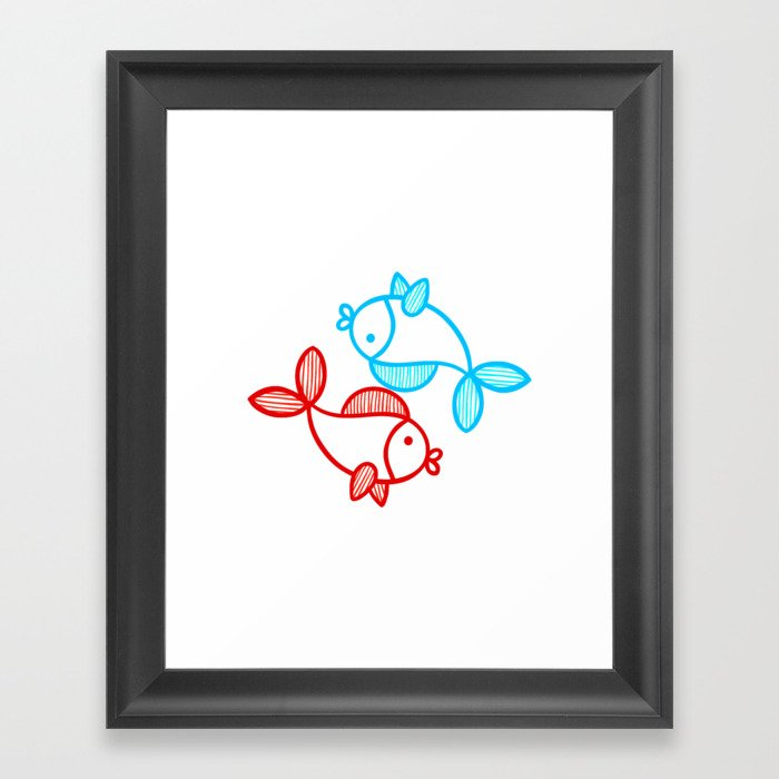 Best Friends Forever - Yin n Yang Framed Art Print