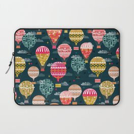 Hot Air Balloons - Retro, Vintage-inspired Print and Pattern by Andrea Lauren Laptop Sleeve