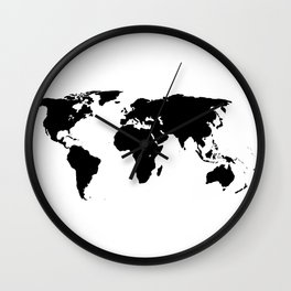 World Outline Wall Clock