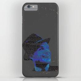Typographic Icons - Frank Sinatra iPhone Case