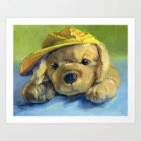 Bert and the Yellow Hat Art Print