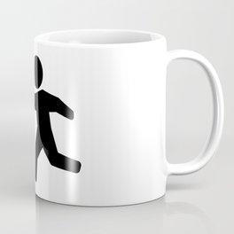 Snowball Throw Stickman Coffee Mug