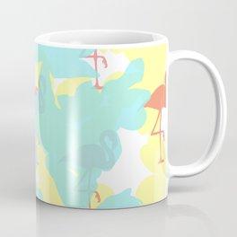 Primroses and flamingos Coffee Mug