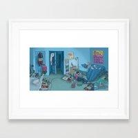 dc Framed Art Prints featuring DC Sleeps by kozyndan