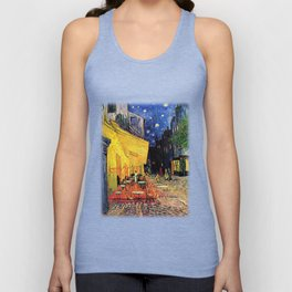 The cafe terrace on the place du forum, Arles, at night, by Vincent van gogh.  Unisex Tank Top