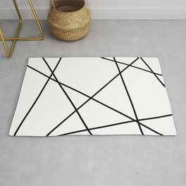 Lines in Chaos II - White Rug