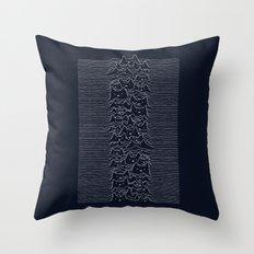 Furr Division Cats (Dark Blue) Throw Pillow