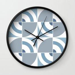Light Blue Circles pattern Large Scale Wall Clock