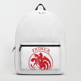 Father of Cats Design Funny Gift for Cat Lovers Backpack