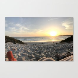 One Red Boot on the Beach Canvas Print