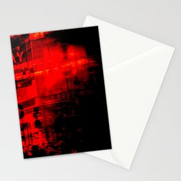 1st arrondissement-red2 Stationery Cards