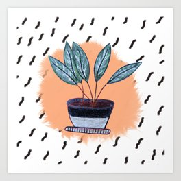 Flowers in Pot Art Print
