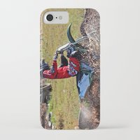 moto iPhone & iPod Cases featuring Moto Cross by Lone Wolf Photography