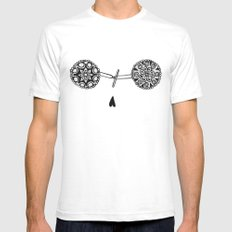 Tittas  White SMALL Mens Fitted Tee