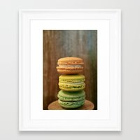 macaroon Framed Art Prints featuring Macaroon Stack by La Fin Du Globe