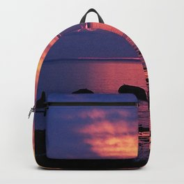 Sunset on the Mighty St-Lawrence Backpack