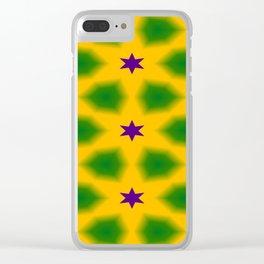 Mardi Gras Stars 3599 Clear iPhone Case
