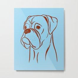 Boxer (Blue and Brown) Metal Print