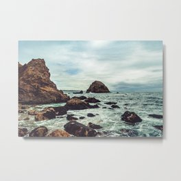 Point Reyes Elephant Rock Metal Print