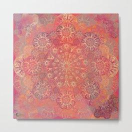 """""""Coral & Rosewood Mandala (pattern)"""" Metal Print"""