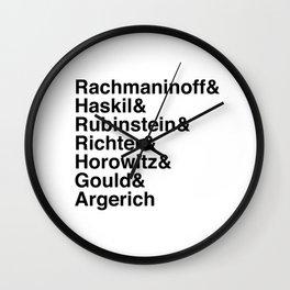 Helvetica Pianists Wall Clock
