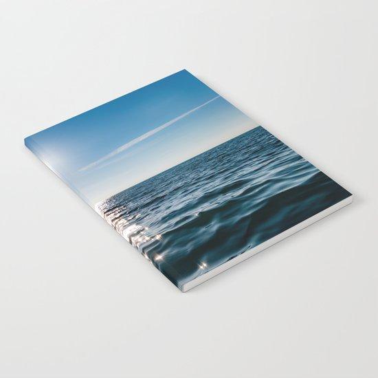 Sea Blue Sky sun Notebook